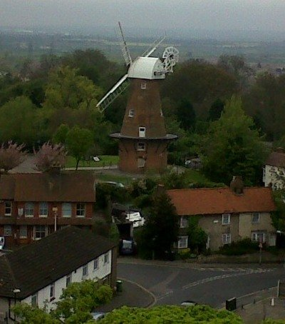Windmill From The Tower crop