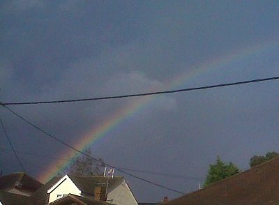 Rainbow over West Rayleigh this evening