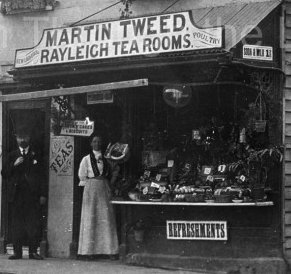 Martin Tweed's Tea Rooms on the corner of Crown Hill circa 1900's. Demolished in the 1920's when road widened