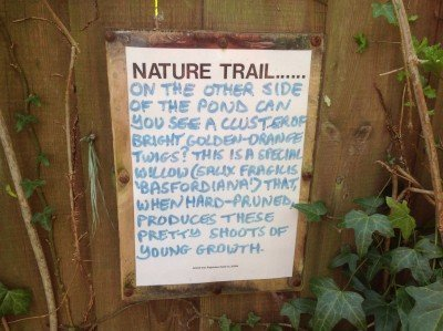The dedicated volunteers do a lot of work around the mount, including providing notices like these.