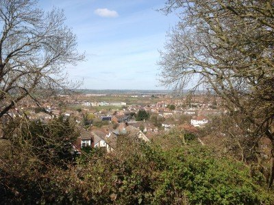 ...where there are views of West Rayleigh and beyond. (The masthead photo of onlinefocus was taken here )