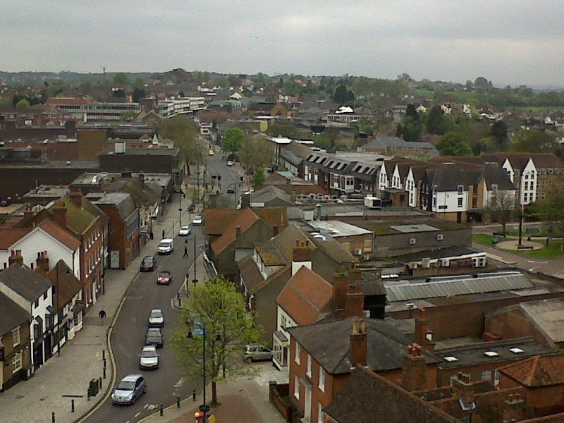 Rayleigh  High Street From the Tower