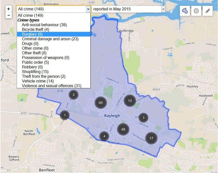 rayleigh crime map