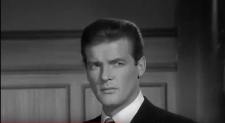 Roger Moore as The Saint