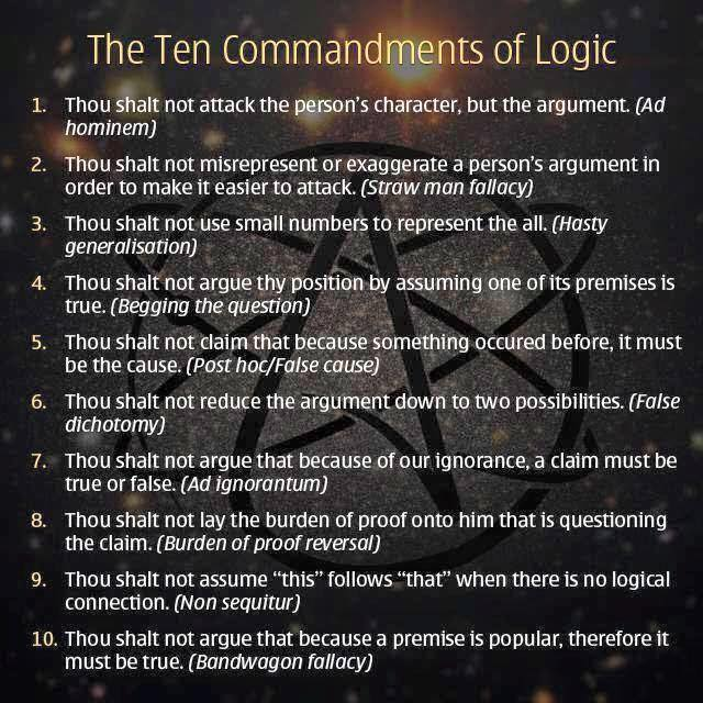 ten commandments of logic
