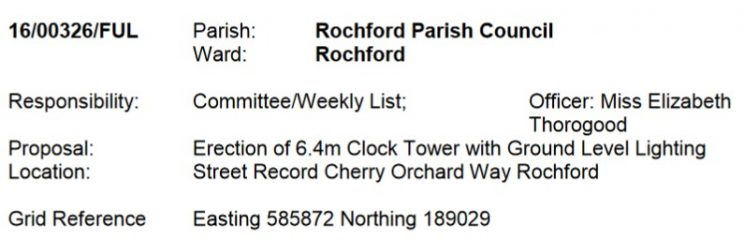 A New Clock Tower In Rochford?